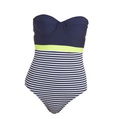 The Best Swimsuits for Women with Big Boobs: A dark top paired with a graphic bottom balances a top-heavy bod. Click through to find out where to buy it!
