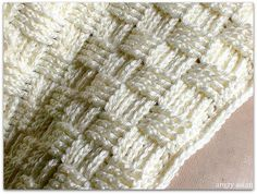 Crochet Basket Weave stitch baby blanket