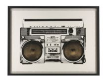 Ghetto Blaster Gilt Print, 55 x 75cm, Limited Edition by Coup DEsprit in gold and white £179 | made.com