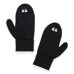 AIR QUOTE MITTENS  kate spade