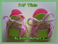 Como hacer las zapatillas de las muñecas de goma eva