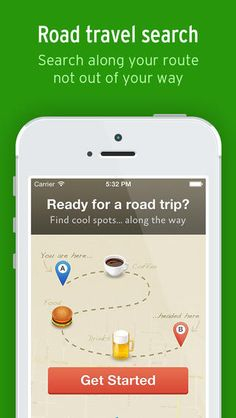 "Use the app ""Along the Way"" to search for cool spots along your road trip route"