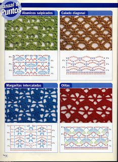 SOLO PUNTOS: Puntos calados crochet