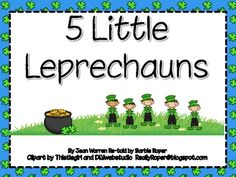 5 Little Leprechauns book and pocket chart! Fun!