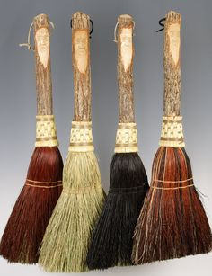 Carved Hearth and Home Broom Set In Your Choice Of by BROOMCHICK