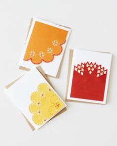 LOVE: Lacy stitched note card DIY by crafter Patricia Zapata.