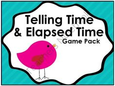 This package contains 3 Telling Time and 2 Elapsed Time Games, 72 Clock Cards, and 6 Teaching Posters. About What Time Is It?: Six Teaching posters designed to help students focus on the hour hand to estimate time. Students are encouraged to look at the hour hand to decide if the time is almost __:__ , a little after __:__, or between __:__and __:__.