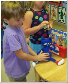Where is Pete? Use kid photos and simple sentences for a class book.