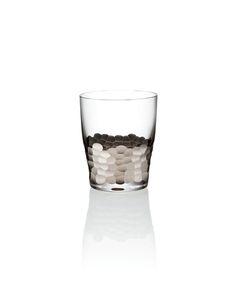 Kim Seybert Paillette Platinum Double Old Fashioned - Set of Four