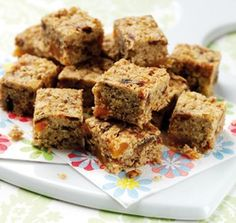 Low Calorie Mini Flapjacks - Brownies & Tray Bakes -Recipes - Baking Mad