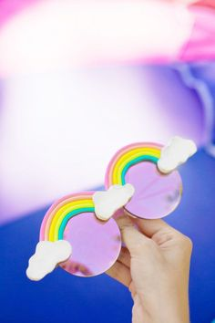 Check out this DIY! These sunglasses make us feel happy :)     How to Make Rainbow Sunglasses | studiodiy.com