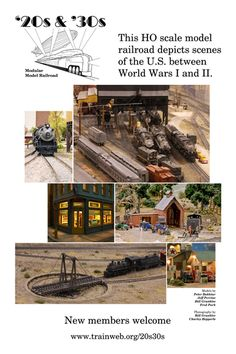 This is a model railroad club that I started twenty years ago. It's on display at public events a few times a year in southern California.