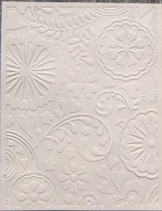 techniques with embossing folders