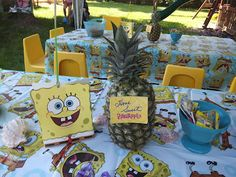 Spongebob party with water fun!