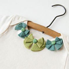 felt bows on a collar - cute!