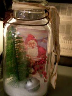 diy ideas, masons, salt snow, farmhouse, christma craft, mason jars, christmas trees, country, epsom salt