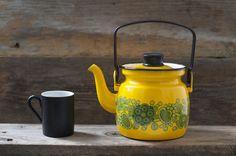 Rare Arabia Finel Raija Uosikkinen Yellow Enamel Teapot - Mid Century on Etsy, $110.00