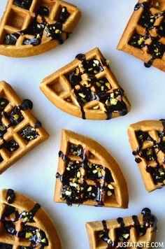 Chocolate Guinness Waffles #recipe