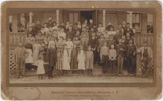 Creek and Cherokee students attending Baptist Indian University in Muskogee, Oklahoma (now known as Bacone College) - 1889
