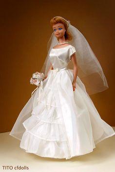 Midge (vintage) / Brides Dream 1963 - it is so good to see Midge in a wedding dress.