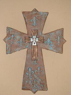Santa Fe style cross from Davinciandvine on ETSY, sold cross obsess, style cross