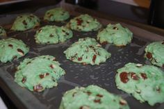 Chocolate chip cookies for St. Patrick's Day :)