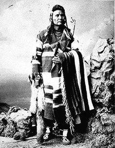 Joseph (Hinmaton-Yalatkit), Nez Perce'chief; full-            length, standing. Photographed by William  H.                       Jackson, before 1877.