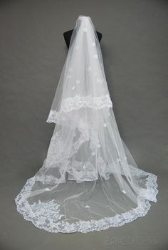 Attractive Floral Edge Wedding Bridal Veil RN70875#Your wedding,your Choice.