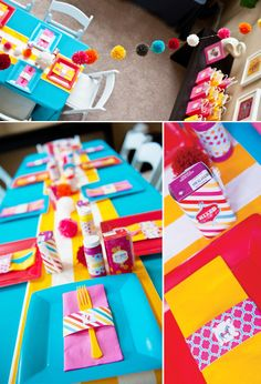 Love the carnival birthday party theme, thinking I'll take out the pink and use this for the boys. So cute!