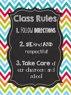 What Happens in First Grade: FREE Class Rules poster download!