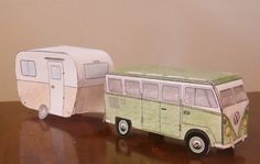 camper trailers, craft, paper templates, printable templates, outdoor fun