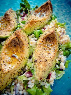 salad, couscous, juic, olive oils, lettuce
