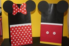 minnie/mickey party bags