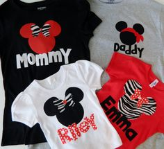 disney shirts for all!!! Cute!