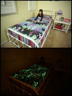 Zipit Bedding Glows In The Dark!!! It is one of the features that kids love the most! So fun!