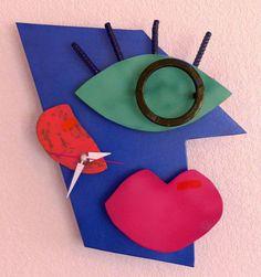 Retro Steel Clock by BillieBoi on Etsy