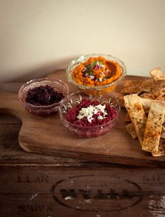 Trio of Dips with Crispy Herb Pitta