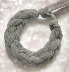 Braided t-shirt bracelet