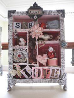 shadow altered art box mixed media