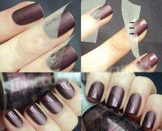 Glossy & Matte Nail Art Design