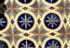 Tile Pattern :: Blue & Orange