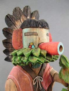 Early Morning Singer Kachina Doll by D Bert