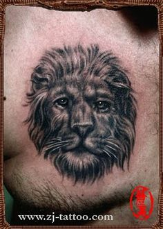 human like #lion #tattoo