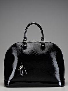 Louis Vuitton Black Alma MM Bag
