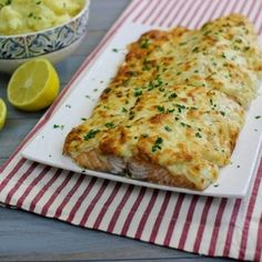 Cheesy, Onion Crusted Baked Salmon - this looks so delicious.  What a different way to make salmon - not like any other recipe I have found.  I will definitely try this one.