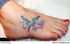 Dragonfly+Tattoo+Designs+For+Women | Dragonfly Tattoos For Women On Foot