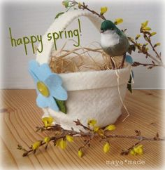 simple spring felt basket: how to