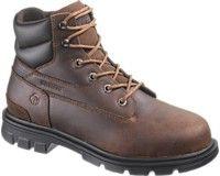 Steel toes Wolverines in brown and black...