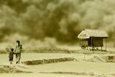 Children with a little house by http://500px.com/Idrusarsyad