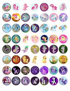 """MLP Bottle cap images, high resolution formatted for printing on 8.5"""" x 11"""" page craft, bottle cap images, bottle caps images, bottl cap"""